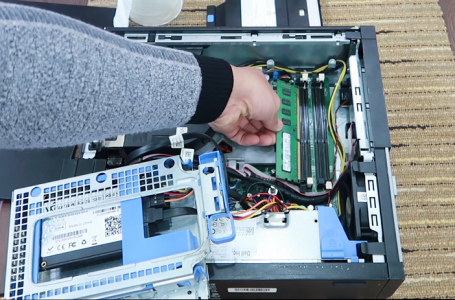 Cách tháo lau lắp Ram máy tính đồng bộ Dell optiplex 3010 7010