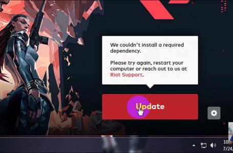 lỗi installing Riot Vanguard update valorant