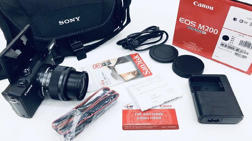 Bóc Hộp Máy Ảnh Quay Vlog Youtube Canon EOS M200 2021