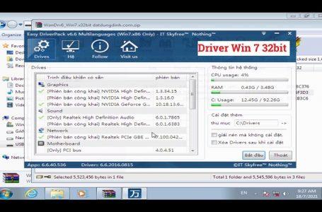 Driver Windows 7 32bit Tổng Hợp Dành Cho Máy Tính Laptop và PC